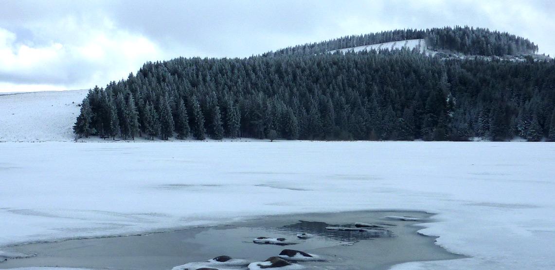 lac de servieres gelé