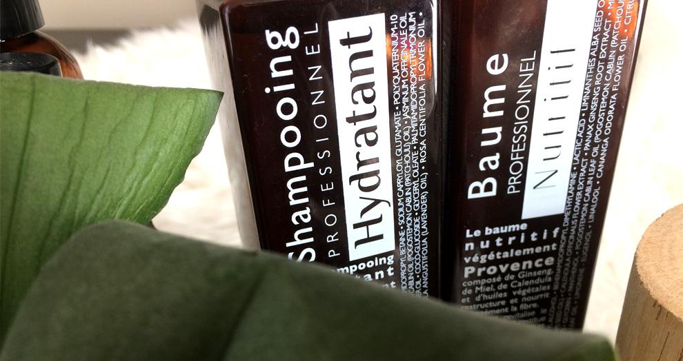 shampoing et baume végétalement provence