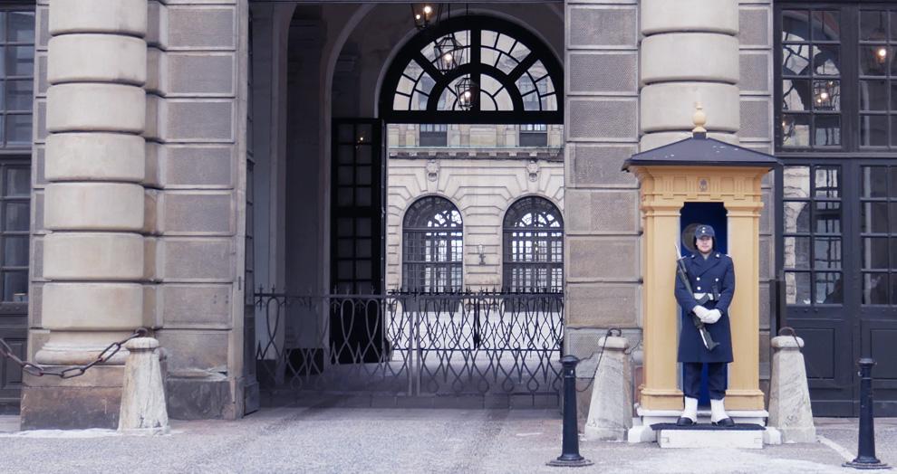 garde palais royal Stockholm