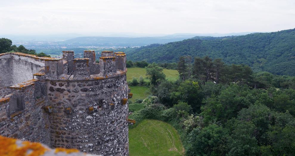vue panoramique chateau de chazeron