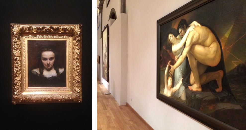 exposition de David à Courbet, courbet