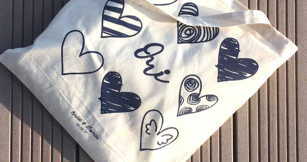 tote bag serigraphie creation mariage