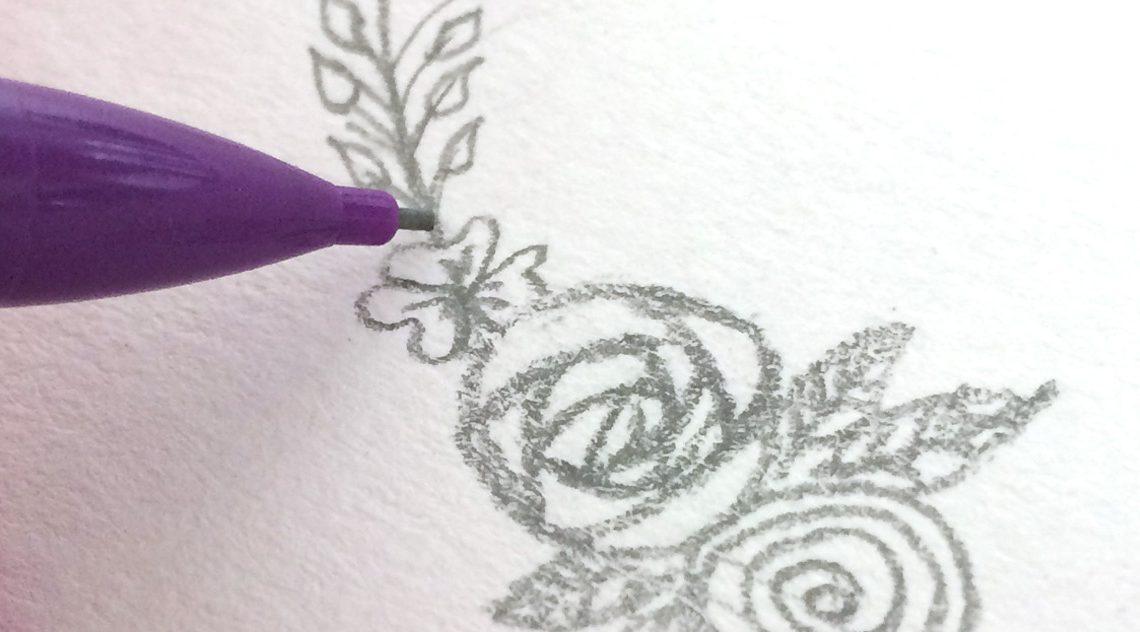 diy dessin couronne de fleurs
