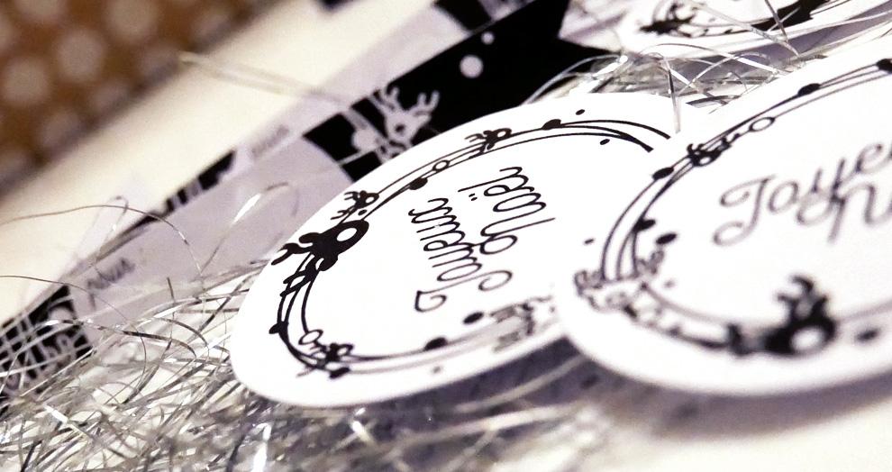 décorer paquet cadeau de noel
