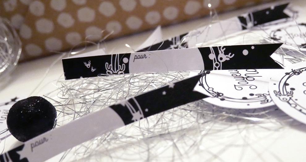 etiquettes de noel à imprimer
