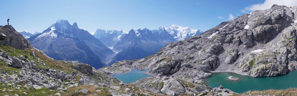 Panorama lac blanc chamonix