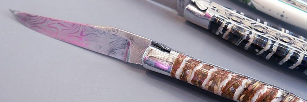 couteau Laguiole en molaire de mammouth