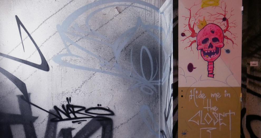 graff in Clair Matin Keymi et Waro