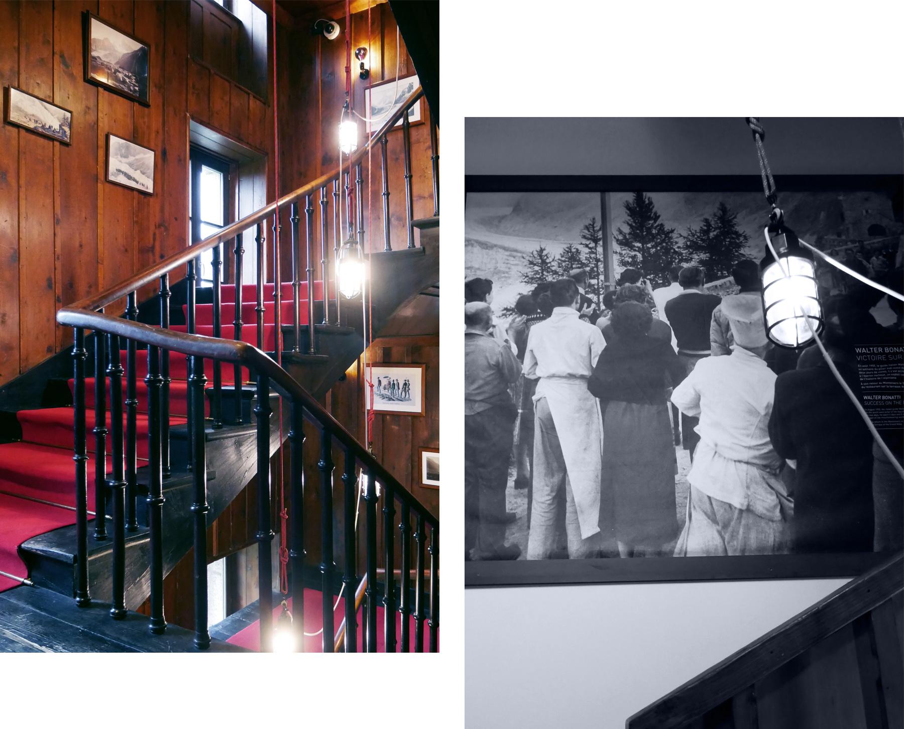 escalier refuge du montenvers