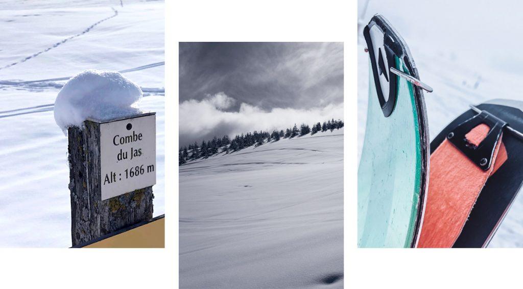 ski de rando à la combe de jas, superdevoluy